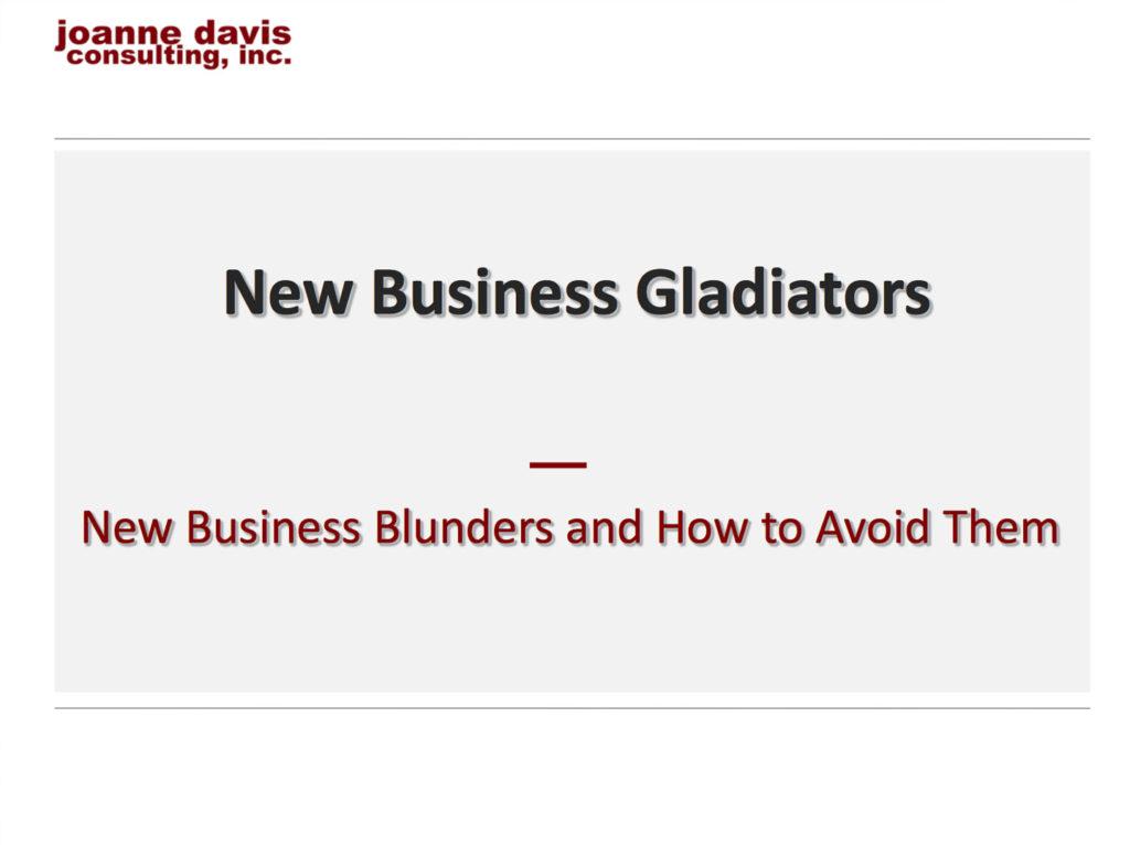 New Business Gladiators