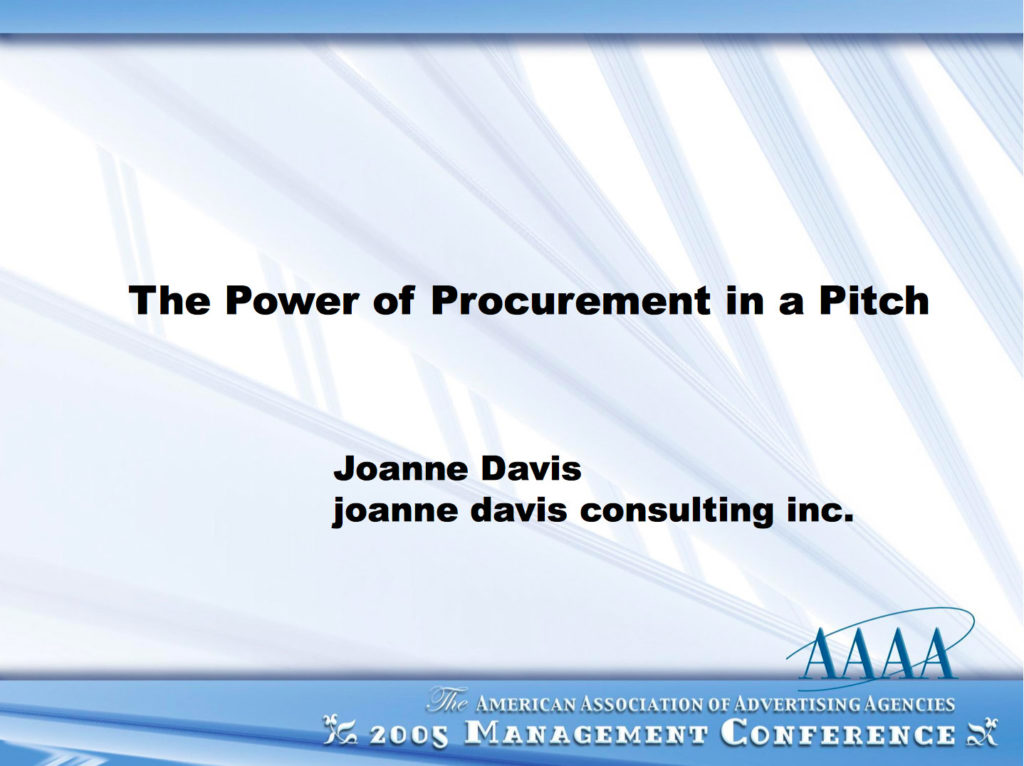 The Power of Procurement in a Pitch